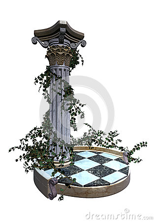 Decorative garden pedestal
