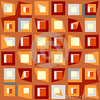 Decorative geometric patchwork seamless pattern.