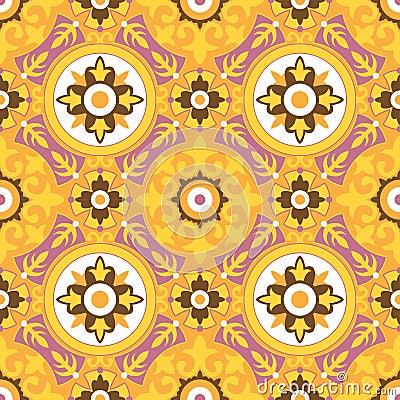 Free Decorative Geometric Seamless Pattern Stock Photography - 19030682