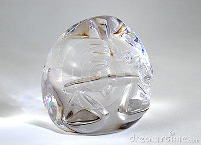 Decorative glass object