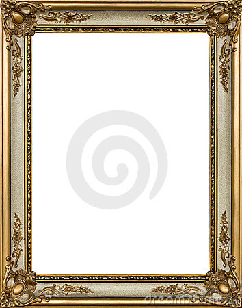Decorative gold picture frame
