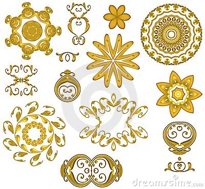 Free Decorative Gold Web Icons Royalty Free Stock Photo - 2036705