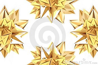 Decorative golden stars