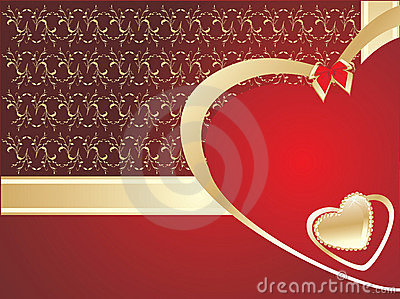 Decorative greeting card. Valentines day