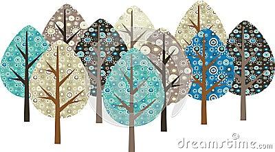 Decorative grunge trees