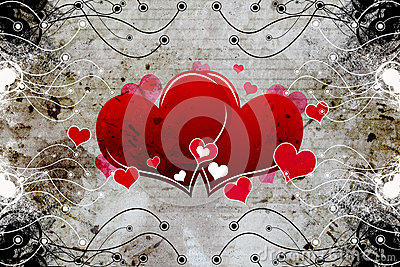 Decorative heart design
