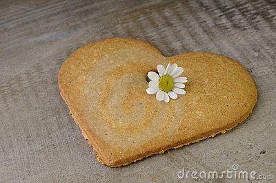Decorative heart shaped cookie