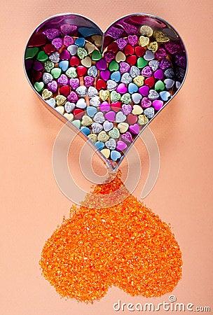 Decorative heart shapes