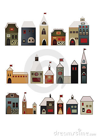 Decorative houses set