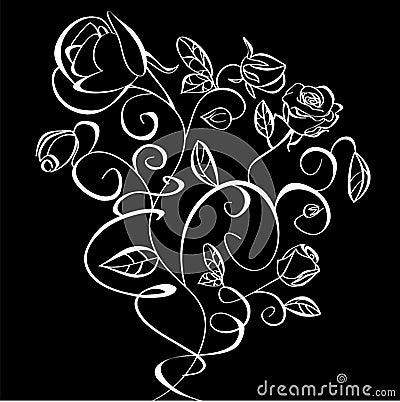 Decorative illustration of flowers