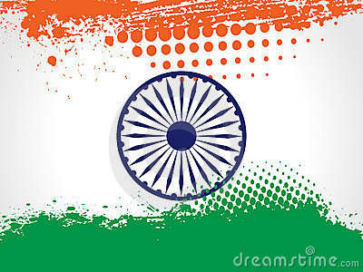 Decorative Indian National Flag.