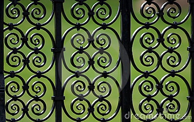 Decorative iron fence pattern
