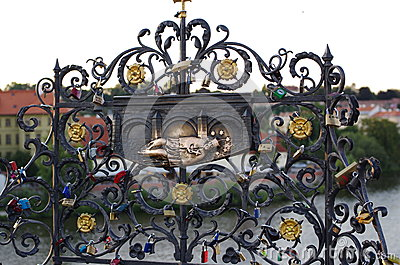 Decorative iron grille