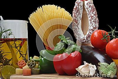Decorative Italien Food