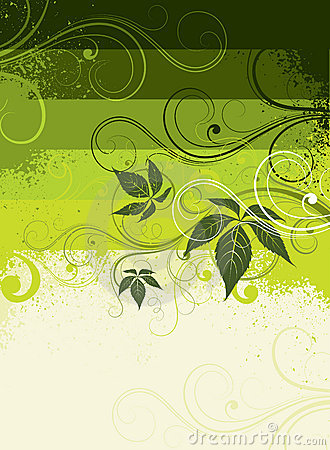 Decorative leafy background