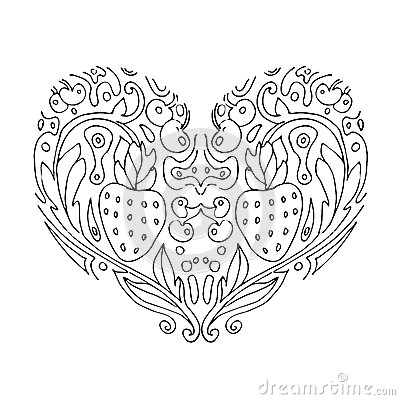emejing coloring pages flowers hearts photos - printable coloring ... - Coloring Pages Flowers Hearts