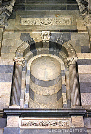 Decorative Marble Feature on External Wall