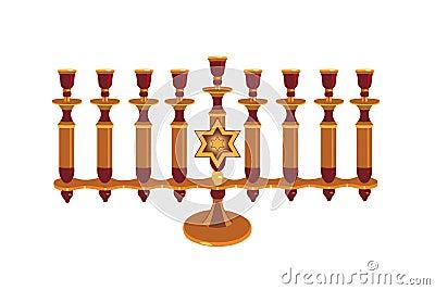 Decorative Menorah isolated