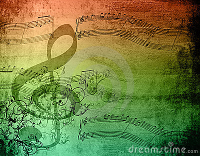Decorative Music Notes Stock Photo