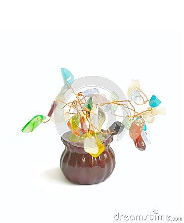 Decorative object - rich tree concept