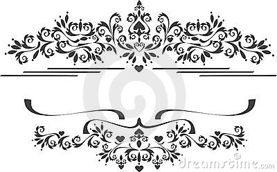 Decorative ornament border , frame.  Graphic arts.
