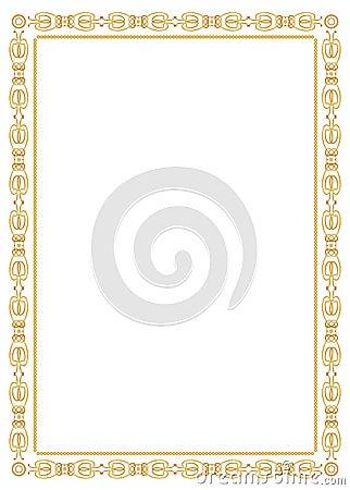 Decorative ornament frame - gold