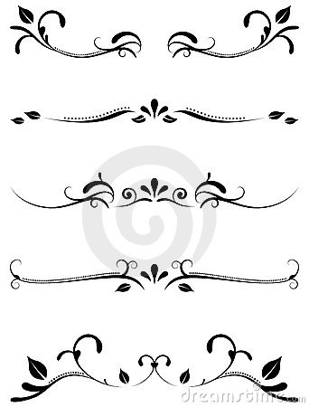 Decorative ornamental rules