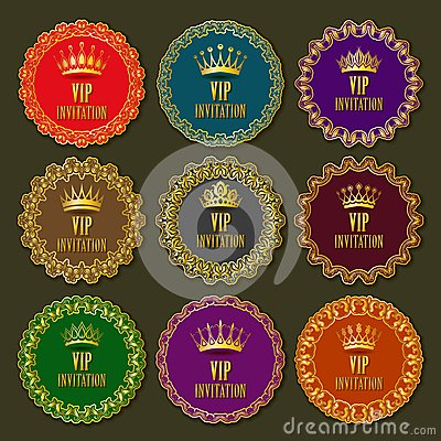 Decorative ornate golden vector frames