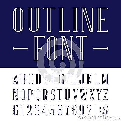 decorative outline alphabet vector font stock vector image 61677375