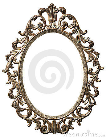 Free Decorative Oval Picture Frame Royalty Free Stock Photos - 1368928