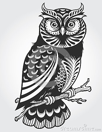 Free Decorative Owl Stock Photography - 33586012