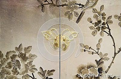 decorative painting with leaves on violet background illustrati stock illustration image 69900481 - Decorative Painting
