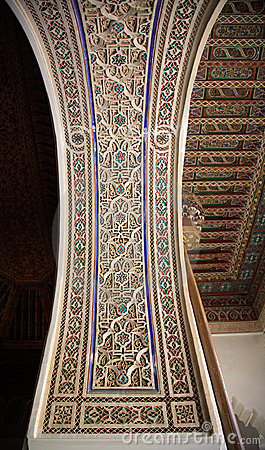 Decorative palace wall and ceiling
