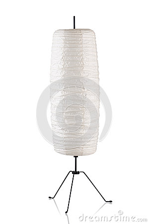 Decorative paper floor lamp