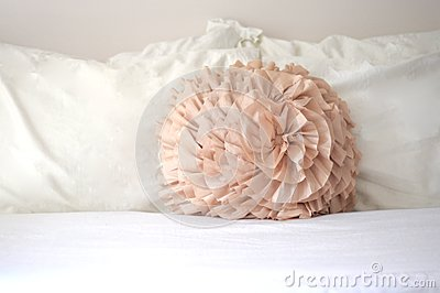 Decorative pastel bedroom pillow