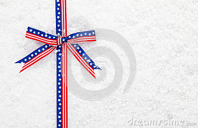 Decorative patriotic American ribbon