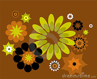 Decorative pattern with flowers