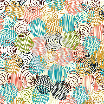 Free Decorative Pattern With Drawn Circles Royalty Free Stock Photography - 91270947