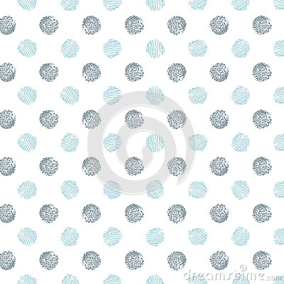 Free Decorative Pattern With Drawn Circles Stock Images - 91305224