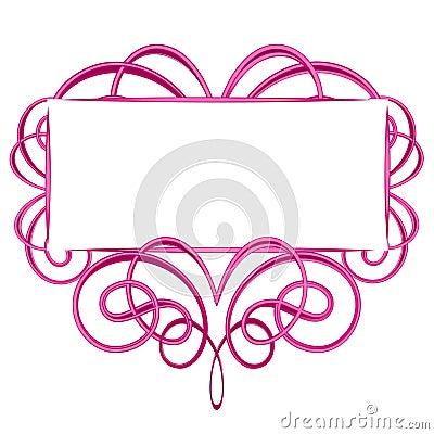 Decorative Pink Flourish Logo