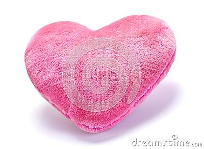 Decorative pink pillow