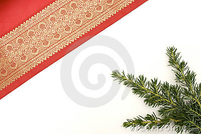 Decorative red christmas material