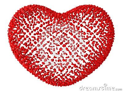 Decorative red love hear