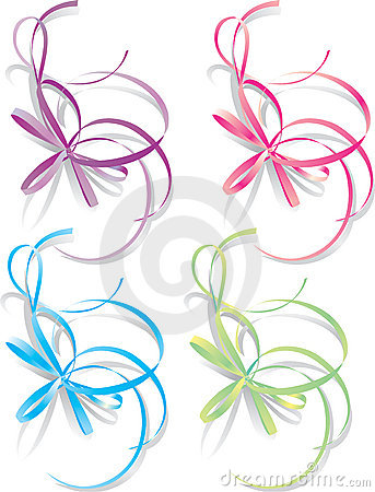 Decorative ribbons, vector