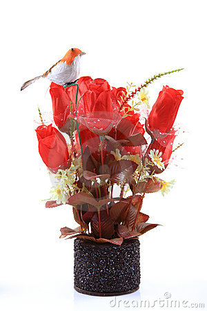 Decorative rose flower bouquet