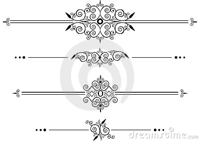 Decorative Rule lines Vector Illustration