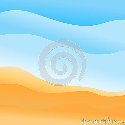 beach banner Cartoon Illustration