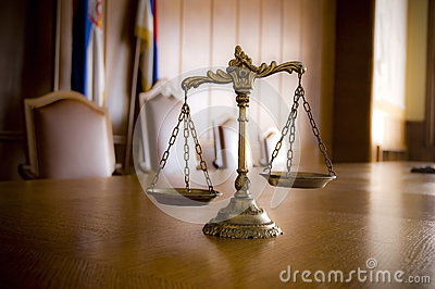 Decorative Scales Of Justice Stock Photo - Image: 25247850