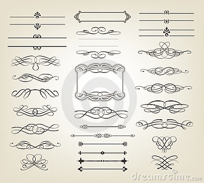 Free Decorative Scrolls And Banners Royalty Free Stock Images - 22134709