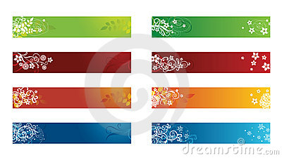Decorative seasonal floral banners